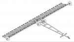 Борона зубовая лёгкая БЛЭК-16 с секциями БЗСС-1,0